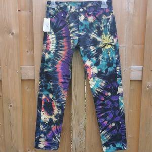 Dries van noten tie dye jeans/denim/pants